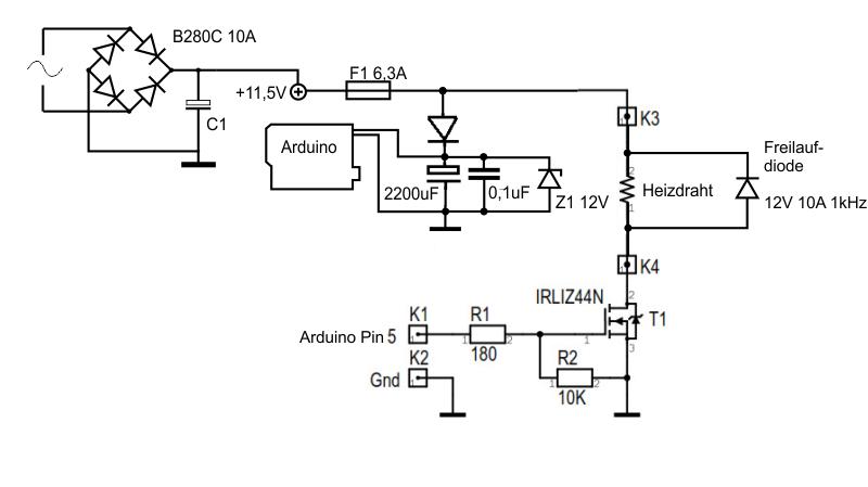 Schaltnetzteil und Heizdraht - Mikrocontroller.net