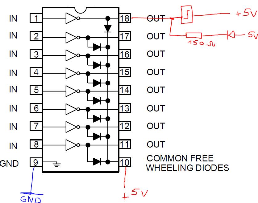 ULN2803 wird sehr warm - Mikrocontroller.net