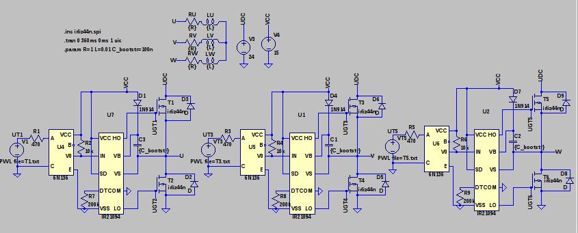 3-Phasen DC/AC Wechselrichter mit MOSFETS und integrierten ...