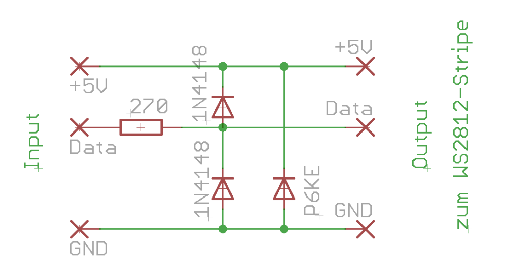 richtige Methode LED-Strip WS2812B am Raspberry Pi