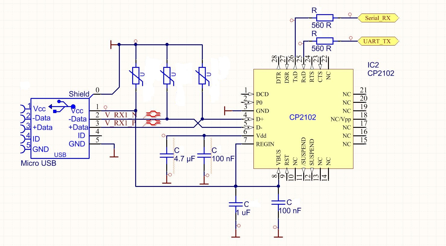 USB to UART CP2102 Schema - Mikrocontroller net