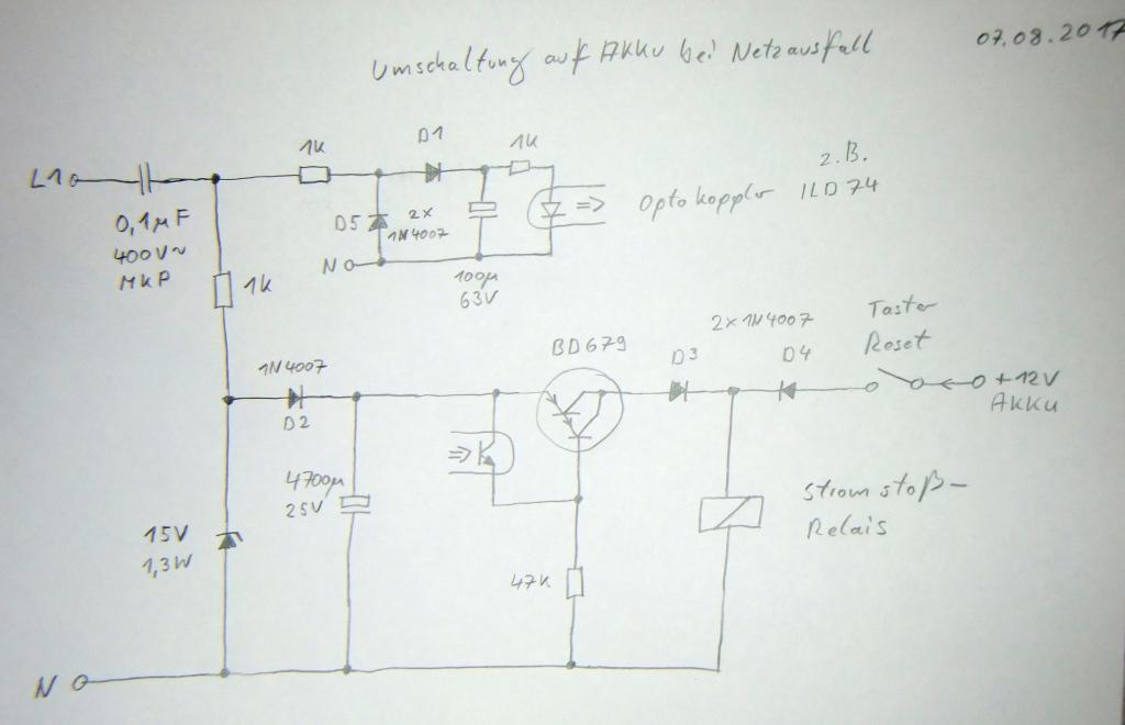 Umschaltung auf Akku bei Netzausfall - Mikrocontroller.net