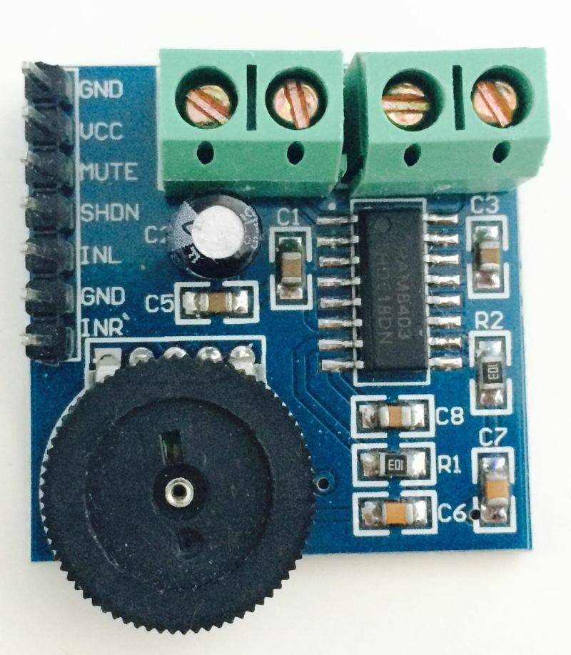 PAM8403 Stereo (Kopfhörer) zu Mono (Lautsprecher) - wie ...