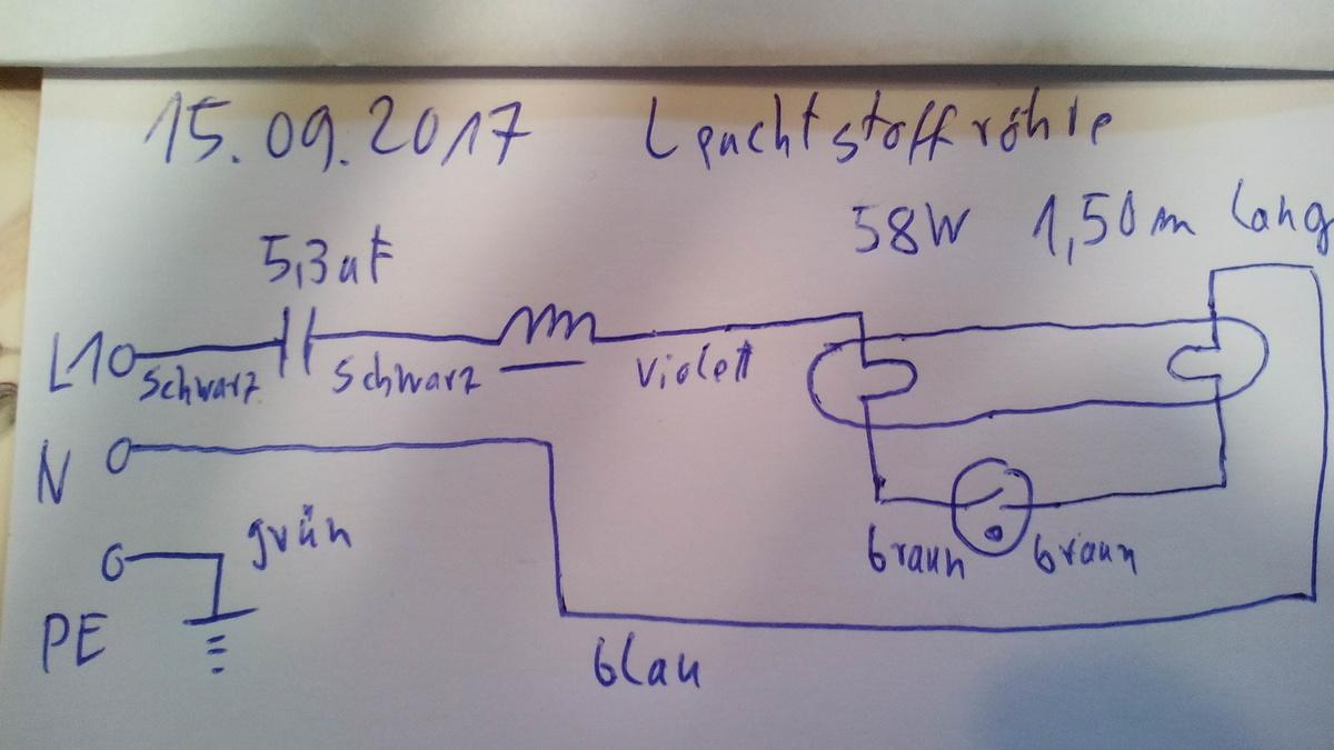 Wie funktioniert Kompensation Leuchtstoffröhre? - Mikrocontroller.net