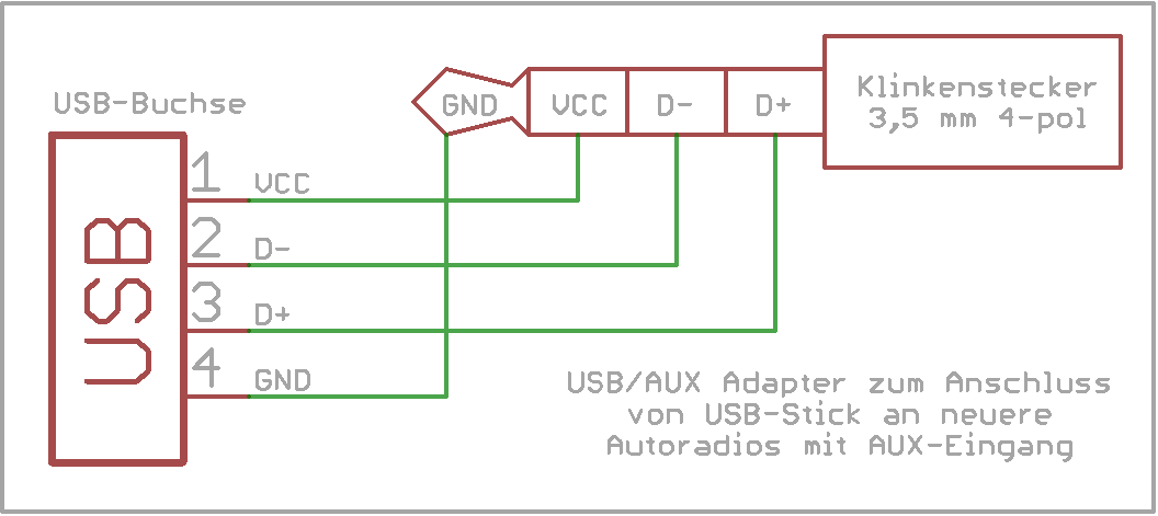 Usb  Aux Adapter Pinbelegung
