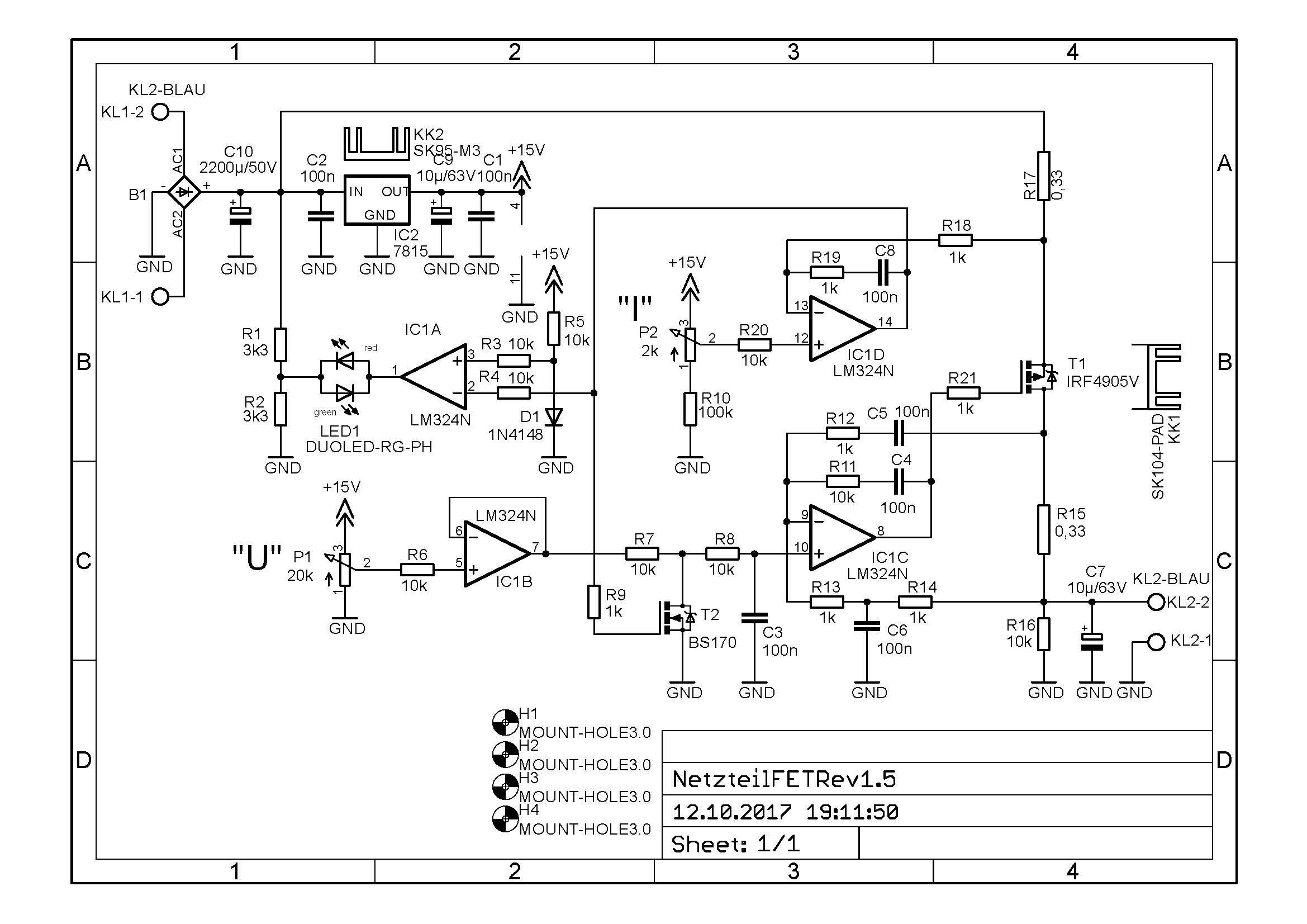 Labornetzgert Fragen Zum Schaltplan Lm324n Circuit Netzteilfetrev15 Sch