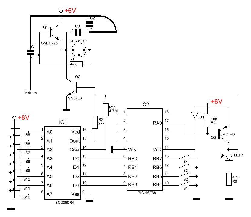 pt2260应用电路图