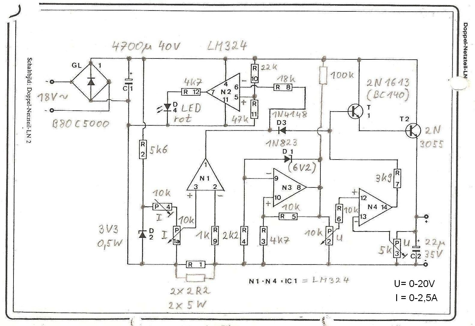 Labornetzgerät - Fragen zum Schaltplan - Mikrocontroller.net