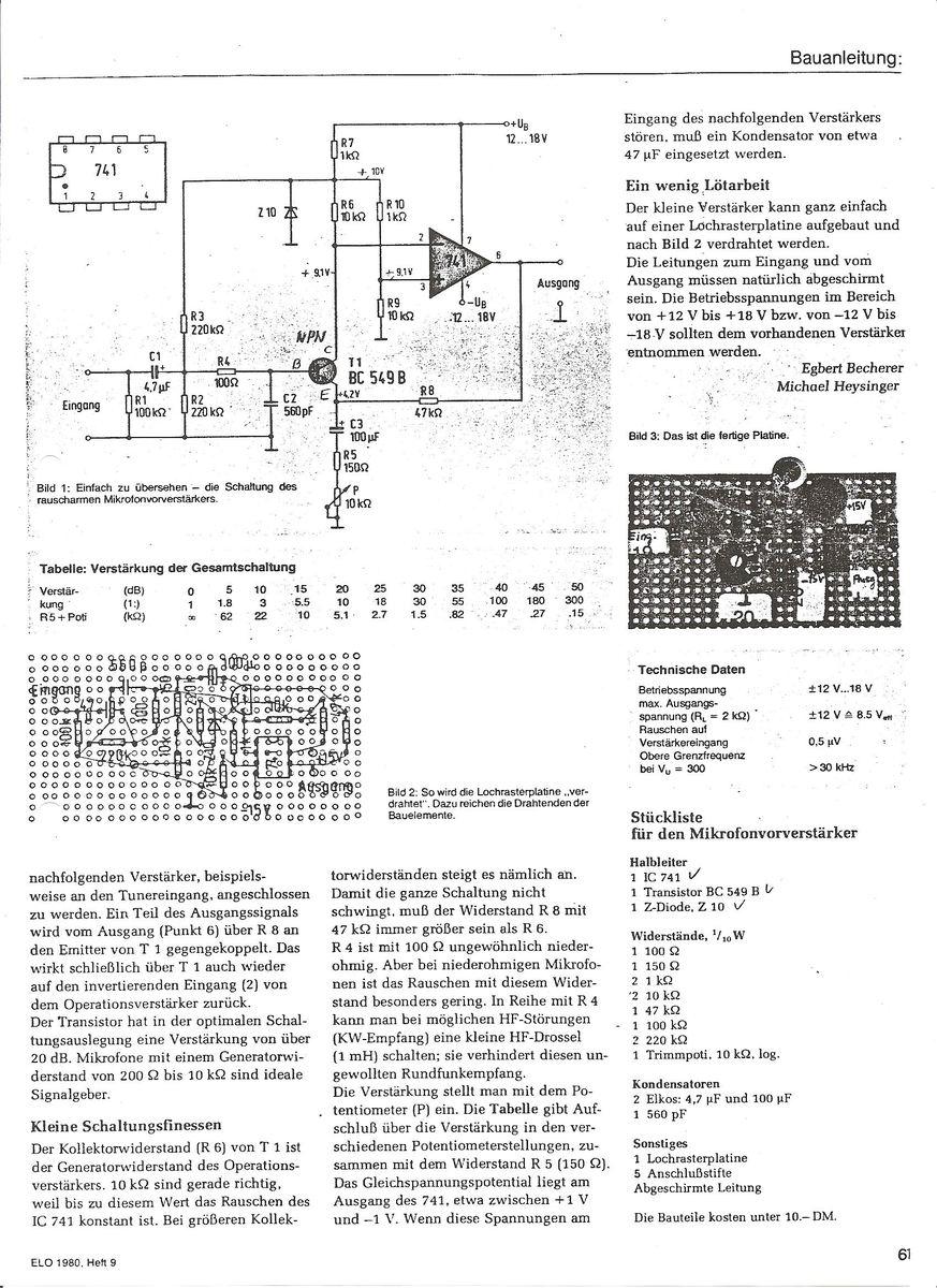 Ausgezeichnet Dynamisches Mikrofonschaltplan Ideen - Der Schaltplan ...