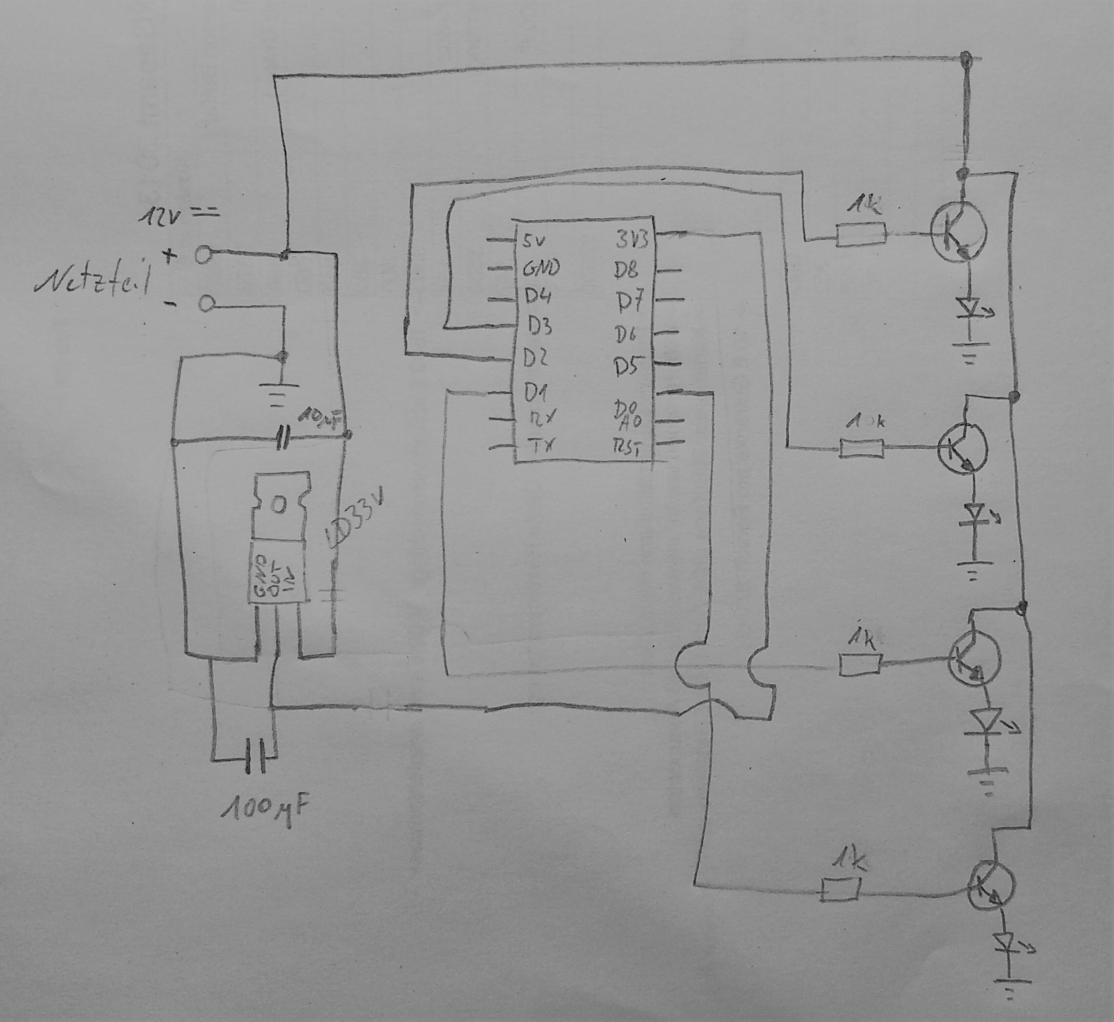 fehlersuche steuerplatine rgbw led strips per esp8266. Black Bedroom Furniture Sets. Home Design Ideas