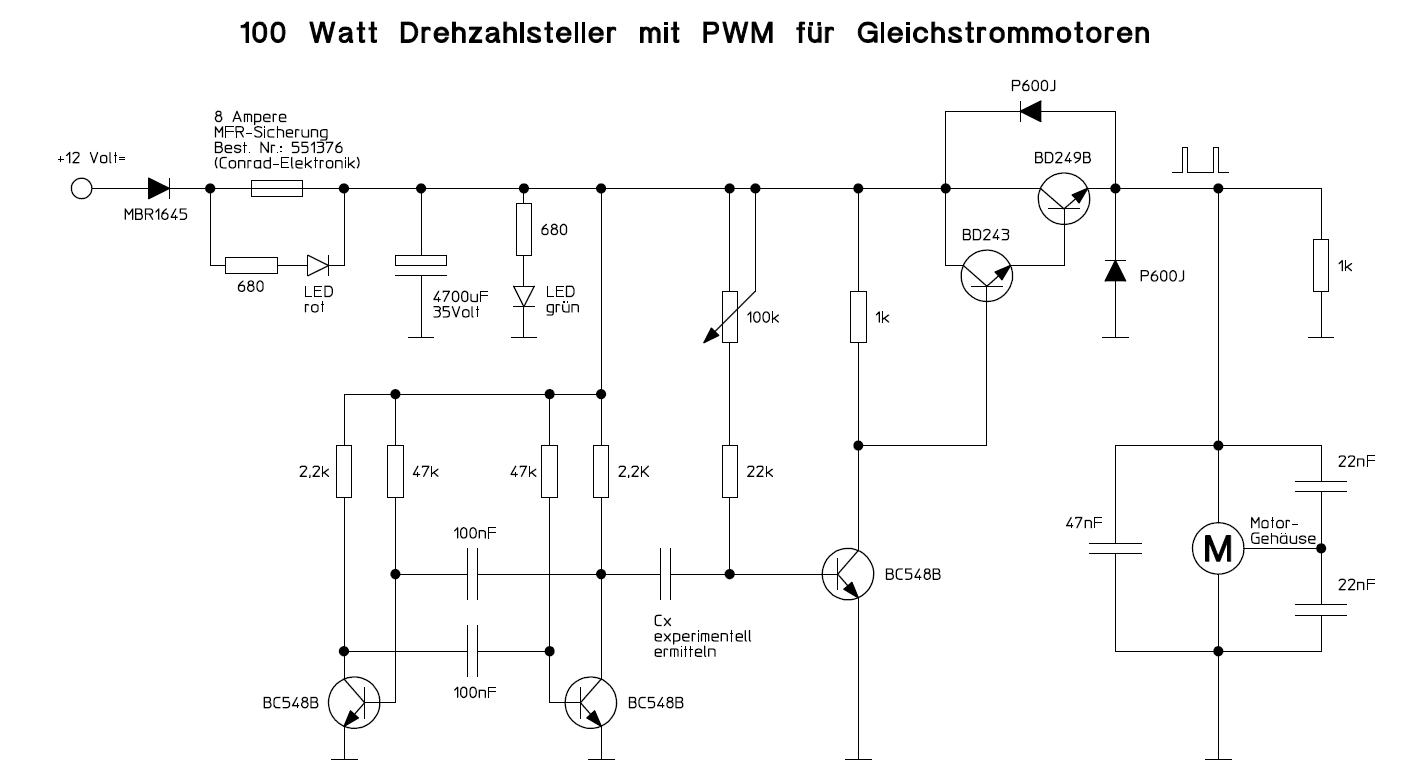 Motorsteuerung Pwm Ber Poti Control Speed Motor 12v By Tl494 Preview Image For Einfache