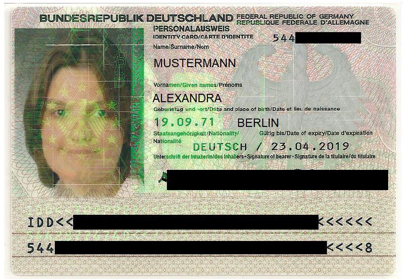 Personalausweis Was Schwärzen