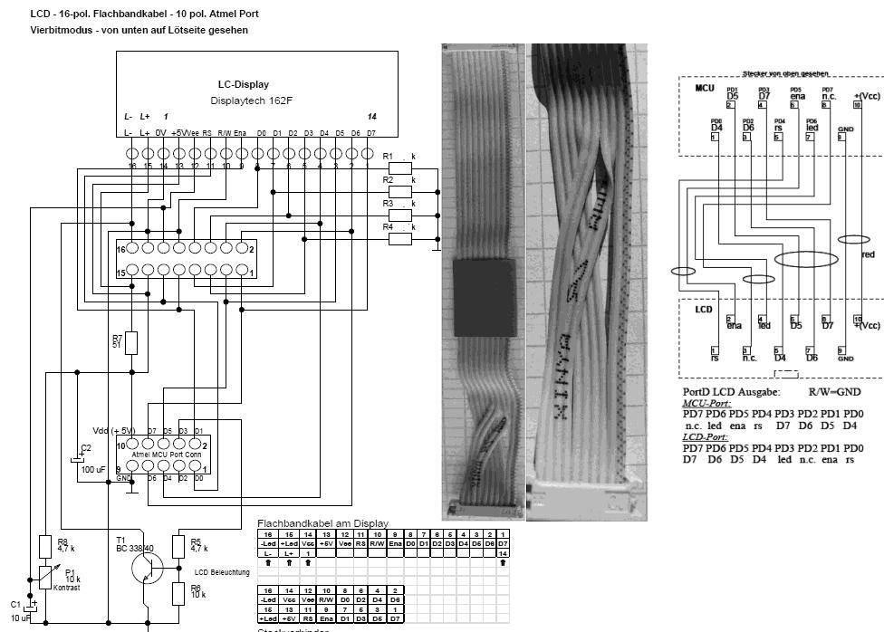 LCD auf Steckbrett, Störungen - Mikrocontroller.net
