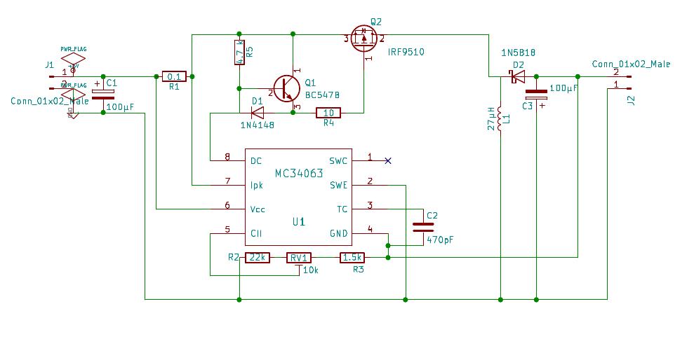 IRF9510 MOSFET wird extrem heiss bei MC34063 Schaltregler ...