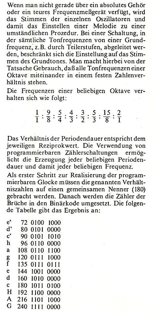 Tonleiter mit acht Tönen herstellen - Mikrocontroller.net