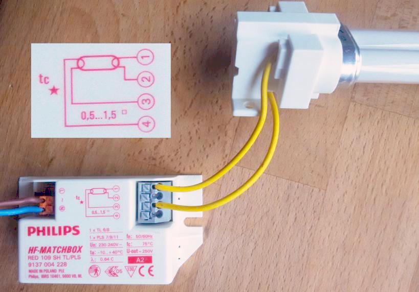 Leuchtstoffröhre PLS: Wie anschließen? - Mikrocontroller.net