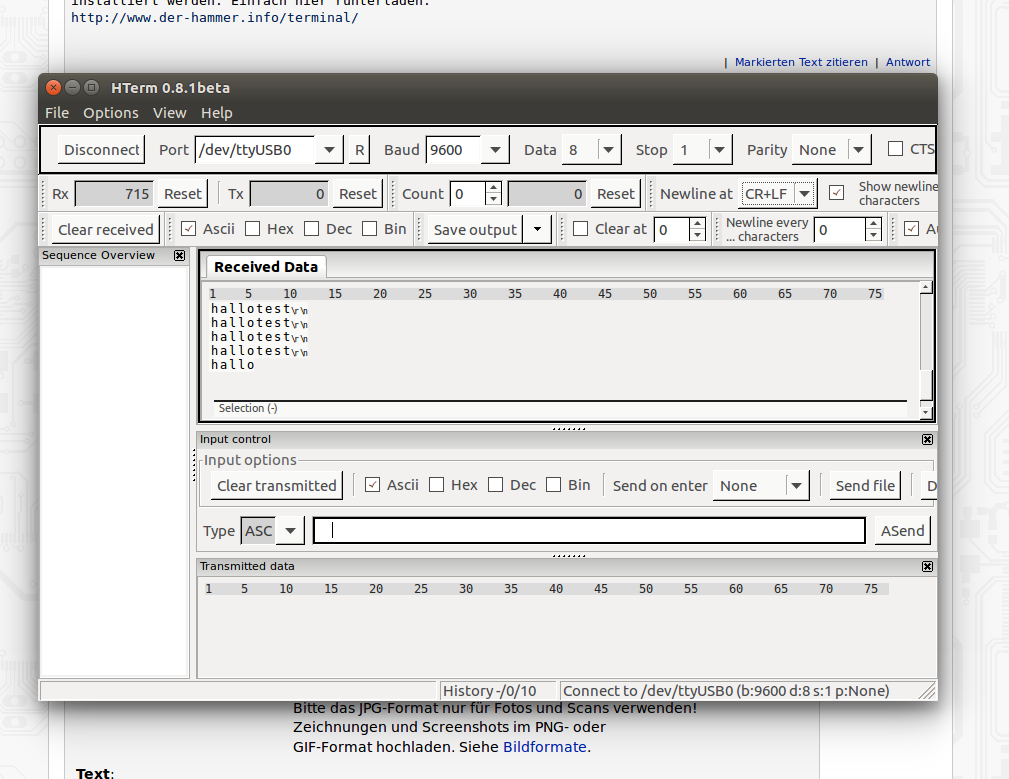 Seriel Terminal wie Hterm für Ubuntu? - Mikrocontroller.net
