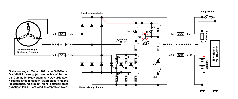 Motorrad Laderegler An 2 Pol Lima Mikrocontroller Net
