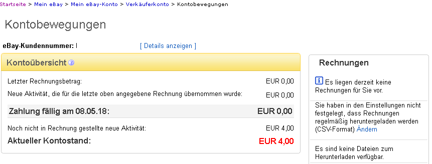 Ebay Verkaufen Kontostand Mikrocontroller Net