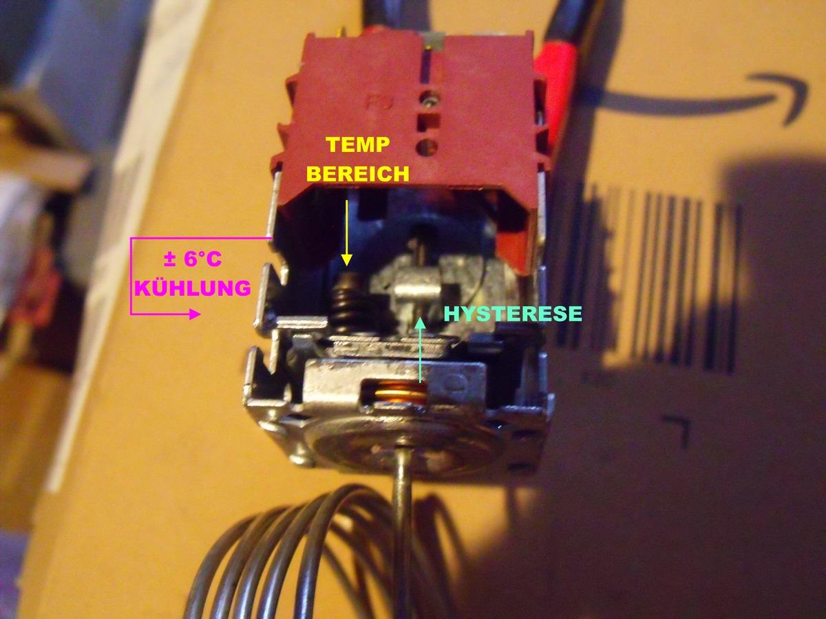 Aufbau Kühlschrank Thermostat : Aeg kühlschrank thermostat überbrücken: kühlschrank anlaufrelais