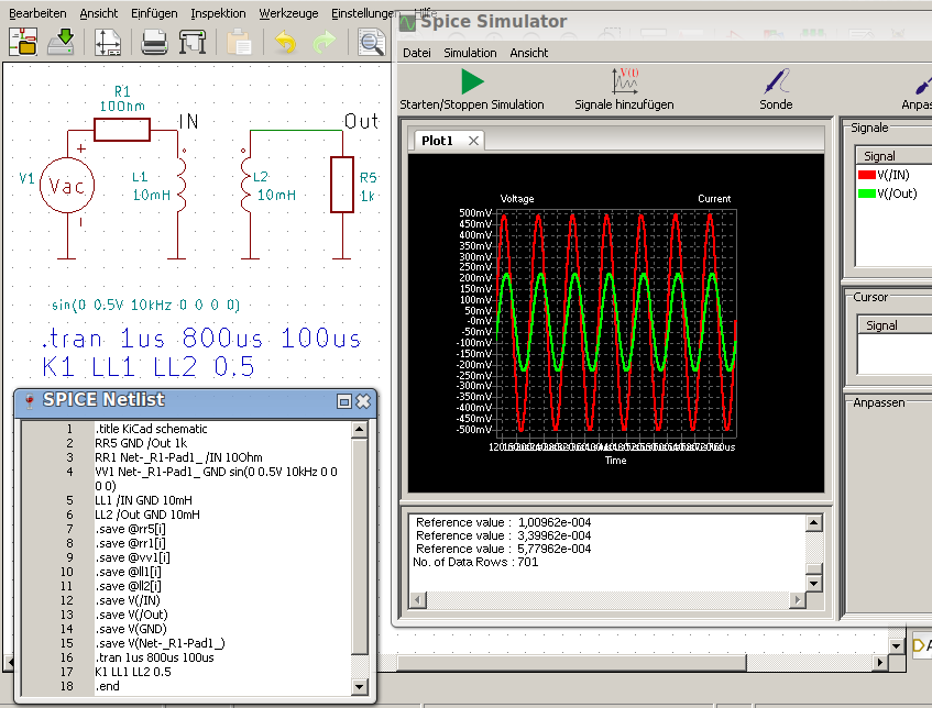 KiCad, Eeschema mit NGSpice ( nightly builds
