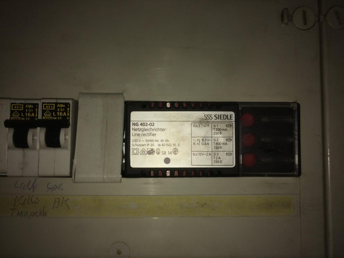 siedle telefonanlage und esp8266: spannungsversorgung über ng 402-02