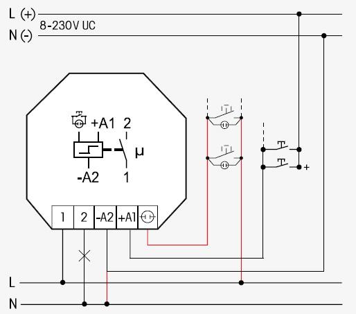 eltako relais stromsto schalter relais f r taster schaltung dosen eltako relais 1s9 8v ac 10a. Black Bedroom Furniture Sets. Home Design Ideas