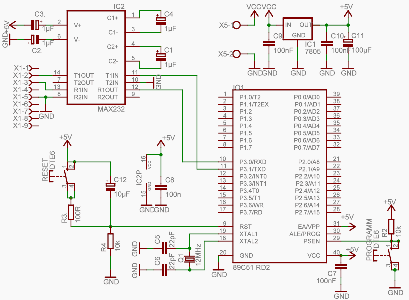 Programmer on Circuit Board Diagram