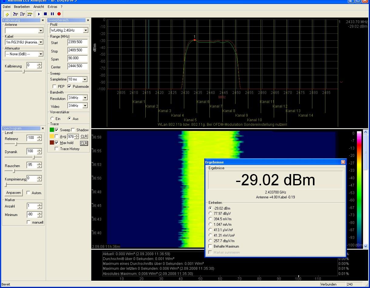 Aaronia AG - LCS Spectrum Analyzer   Slimware Utilities