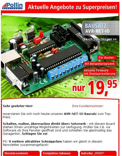 AVR für wenig Geld im LAN - Mikrocontroller.net