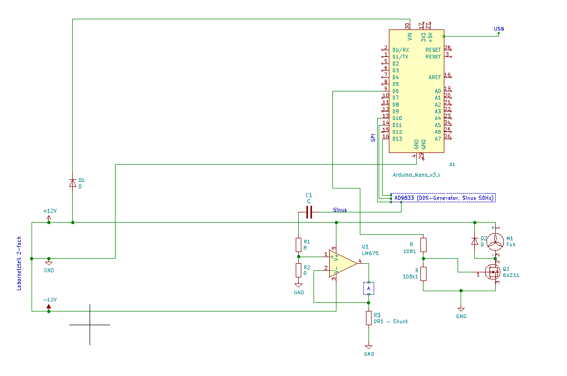 Genaue Stromquelle mit Temperaturkompensation