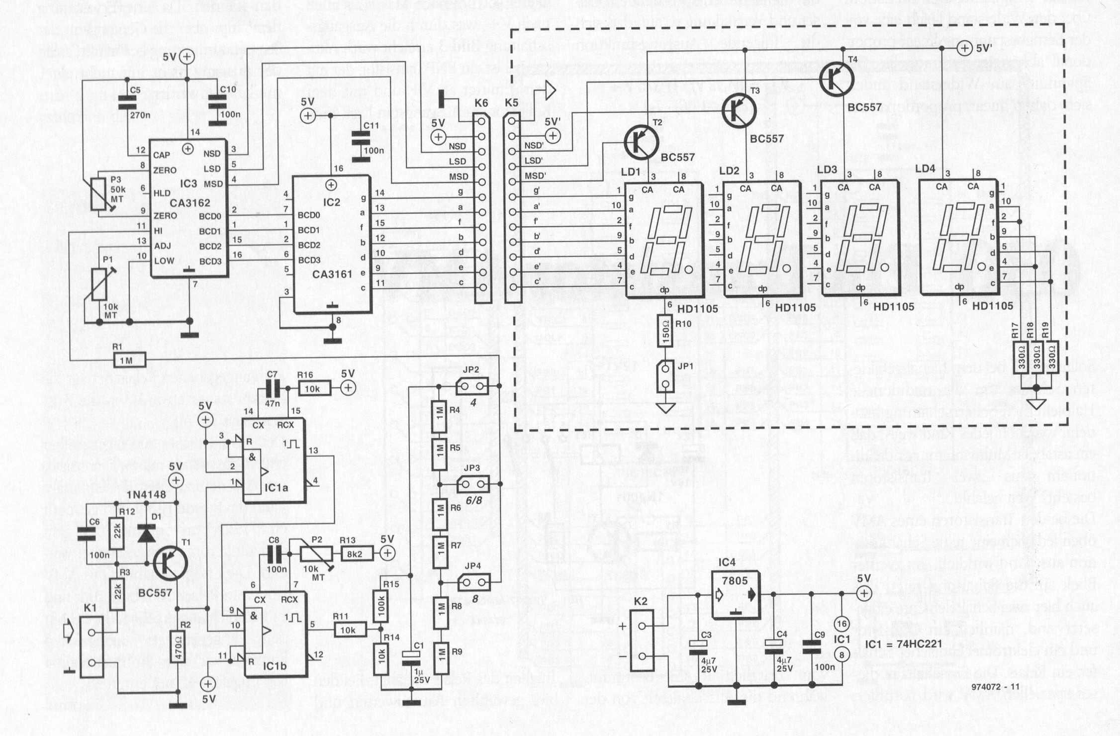 Drehzahlmesser 4 mal 7-segment mit 90S2313 - Mikrocontroller.net