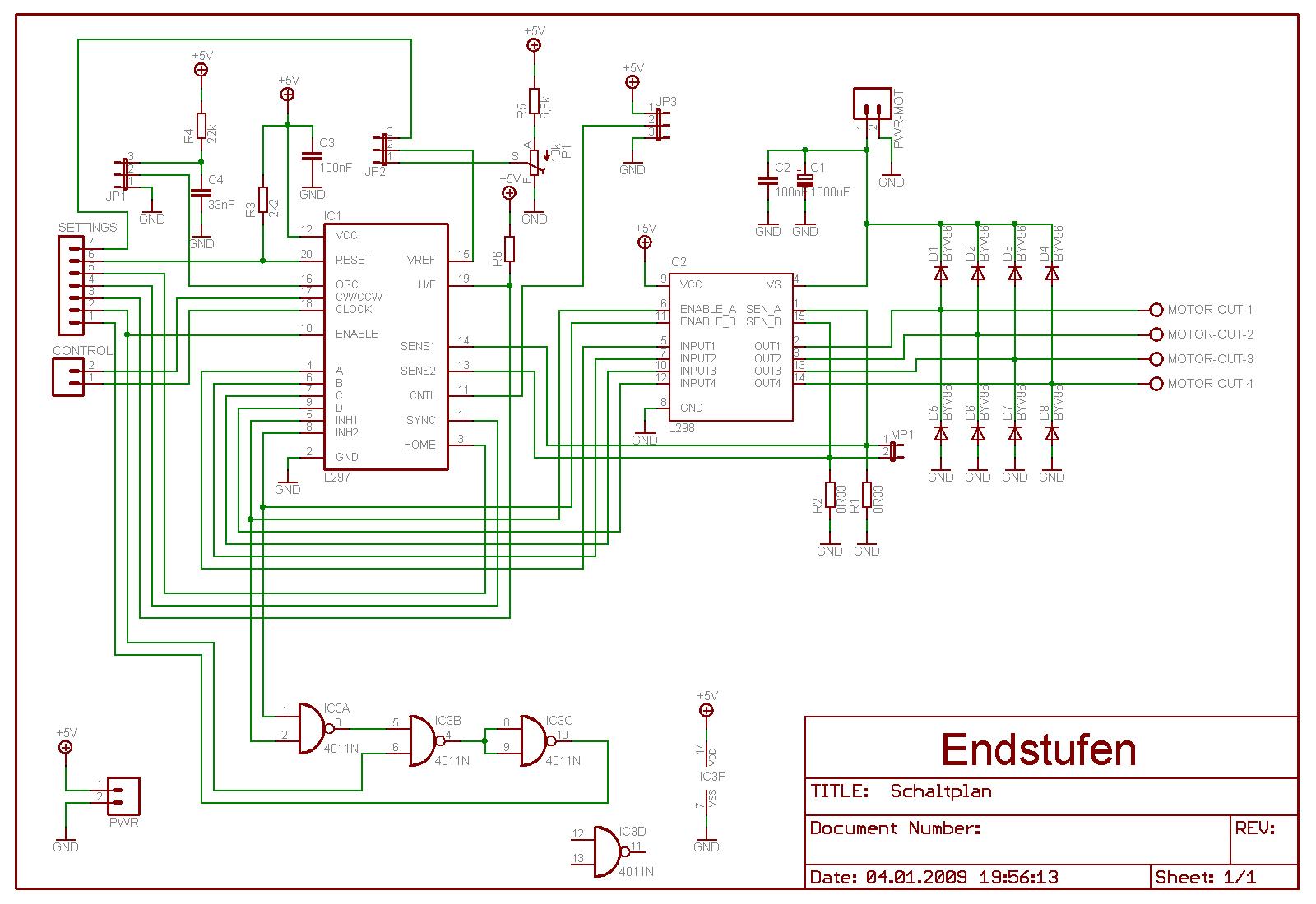l298n motor controller datasheet application note