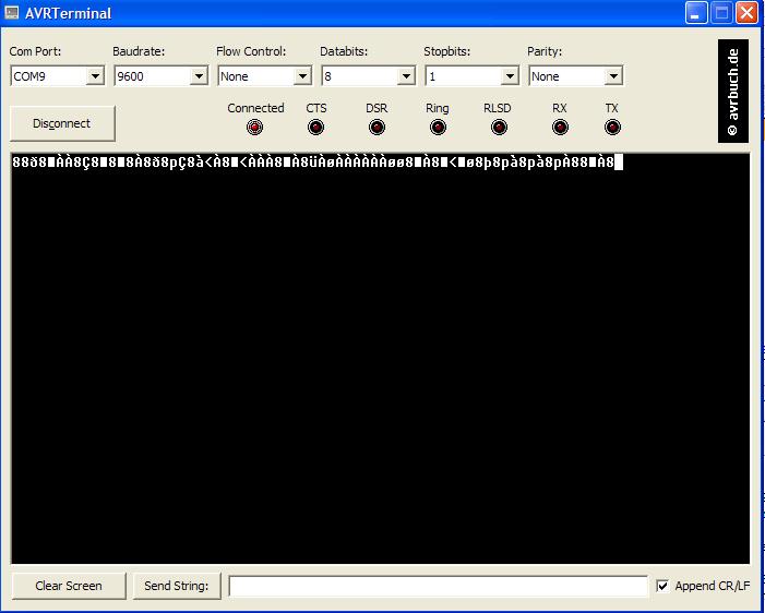 STk500 (RS232) ->(USB)PC keine korrekte Übertragung ...