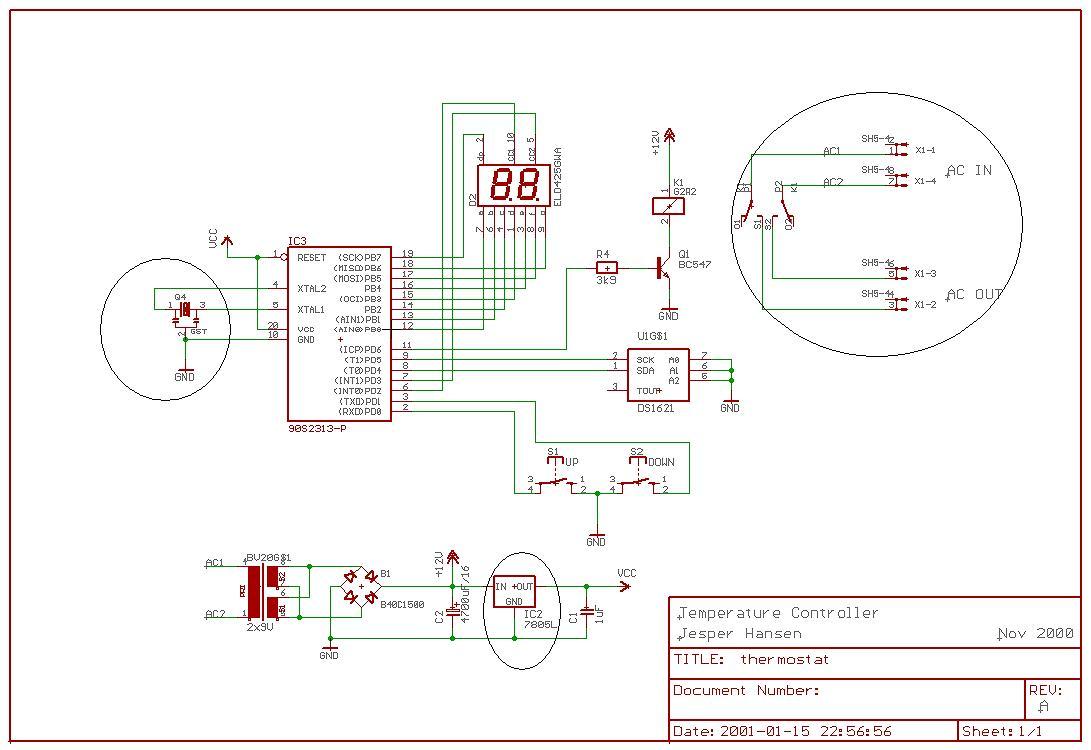 Открыть схему в большем разрешении.  Устройство предназначено для поддержания определенной плюсовой температуры в...