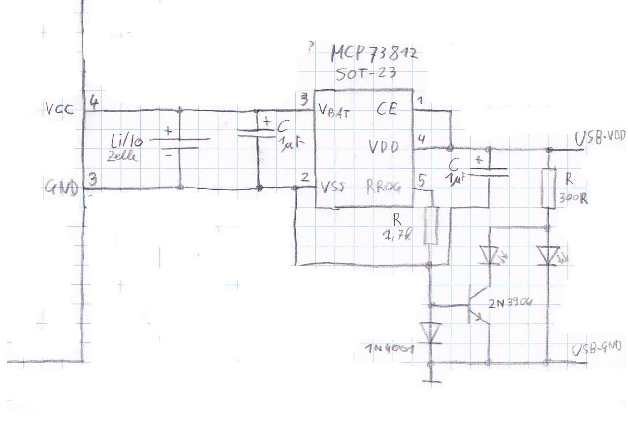 lithium akku laden mit mcp73812. Black Bedroom Furniture Sets. Home Design Ideas