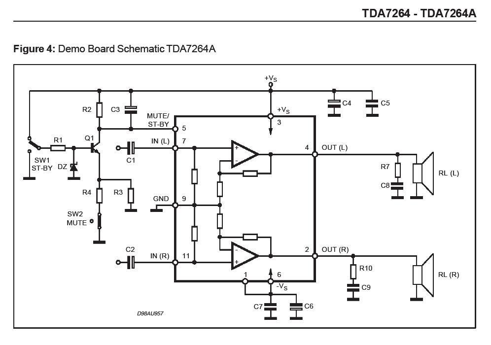 TDA 7264 Stereoverstärker - Merkwürdigkeiten - Mikrocontroller.net