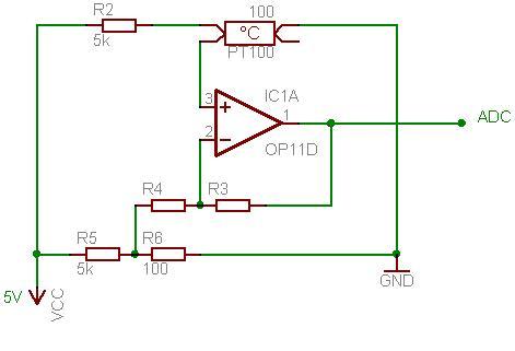 Pt100  Wire Rtd Sensor Circuit Diagram on