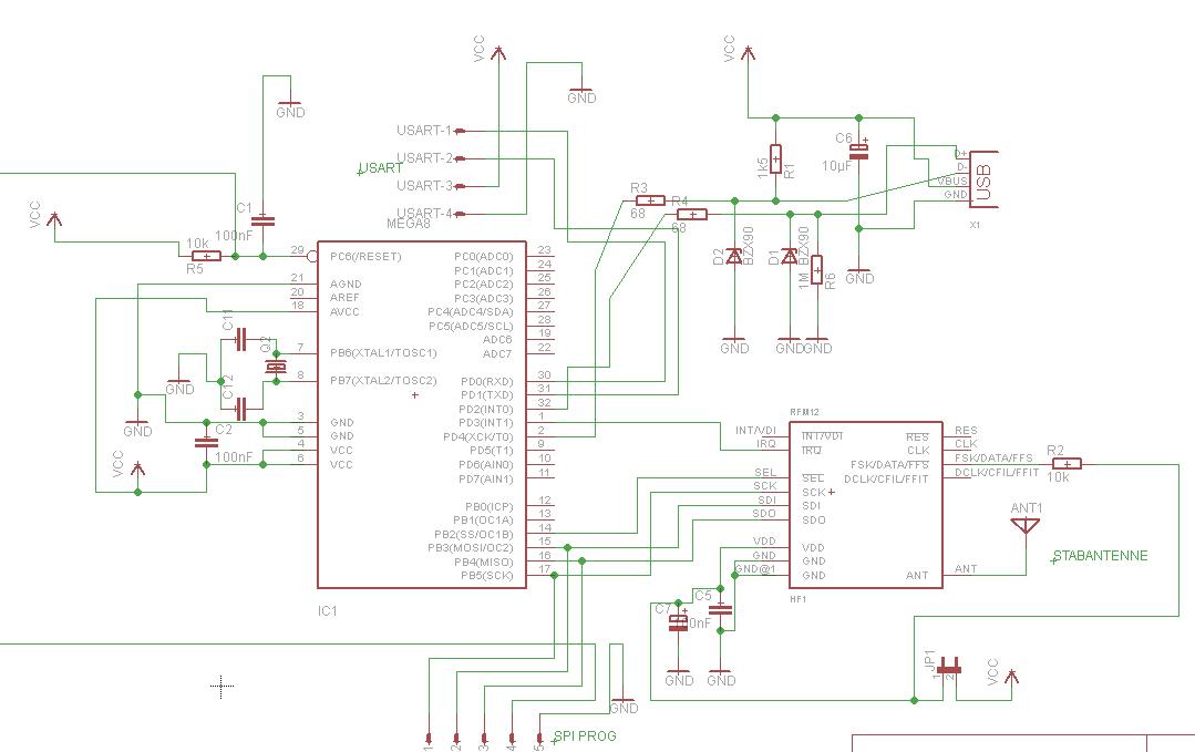 Schaltplan für RFM12 Board - Mikrocontroller.net