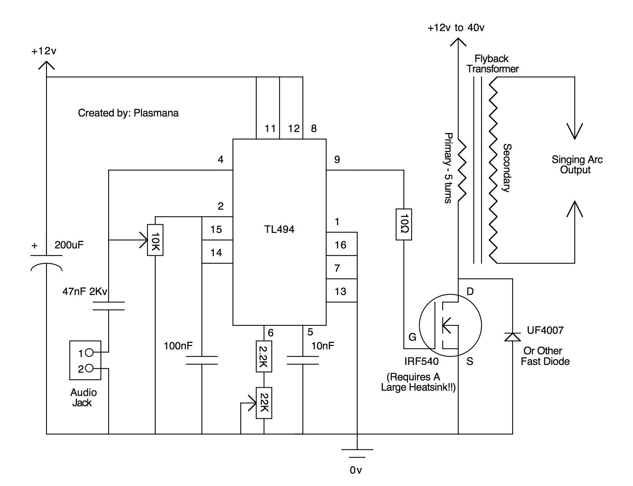 关于tl494单管高压包驱动电路