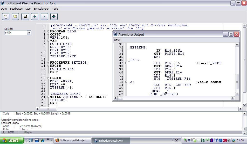 Projekt: Pascal-Compiler für AVR - Mikrocontroller.net