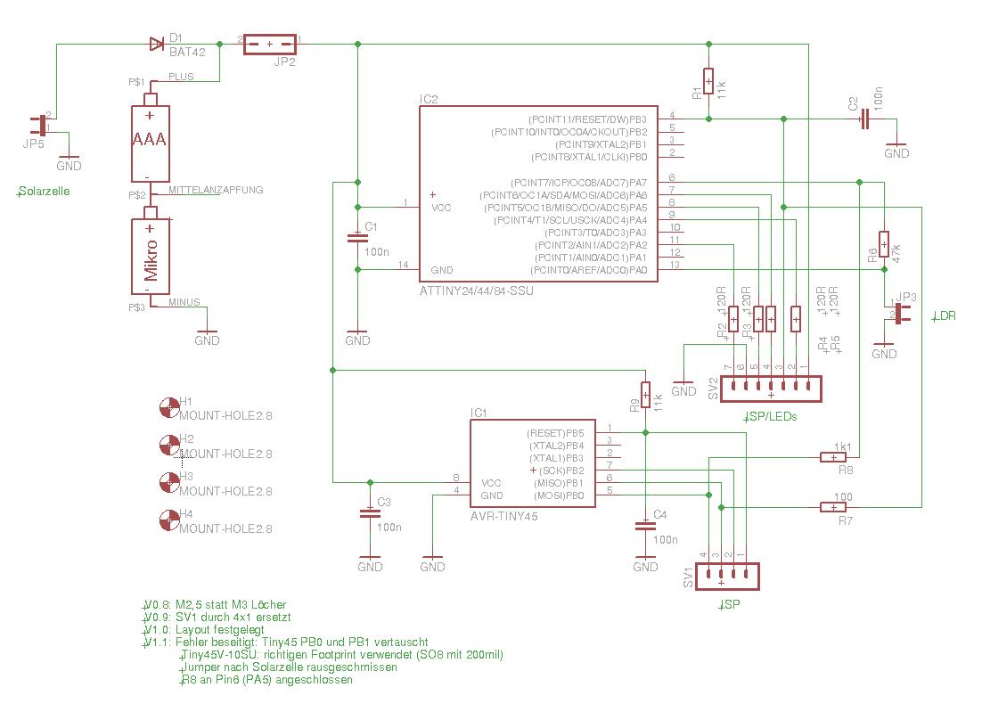Glühwürmchen in Rotkohlglas gefangen - Mikrocontroller.net