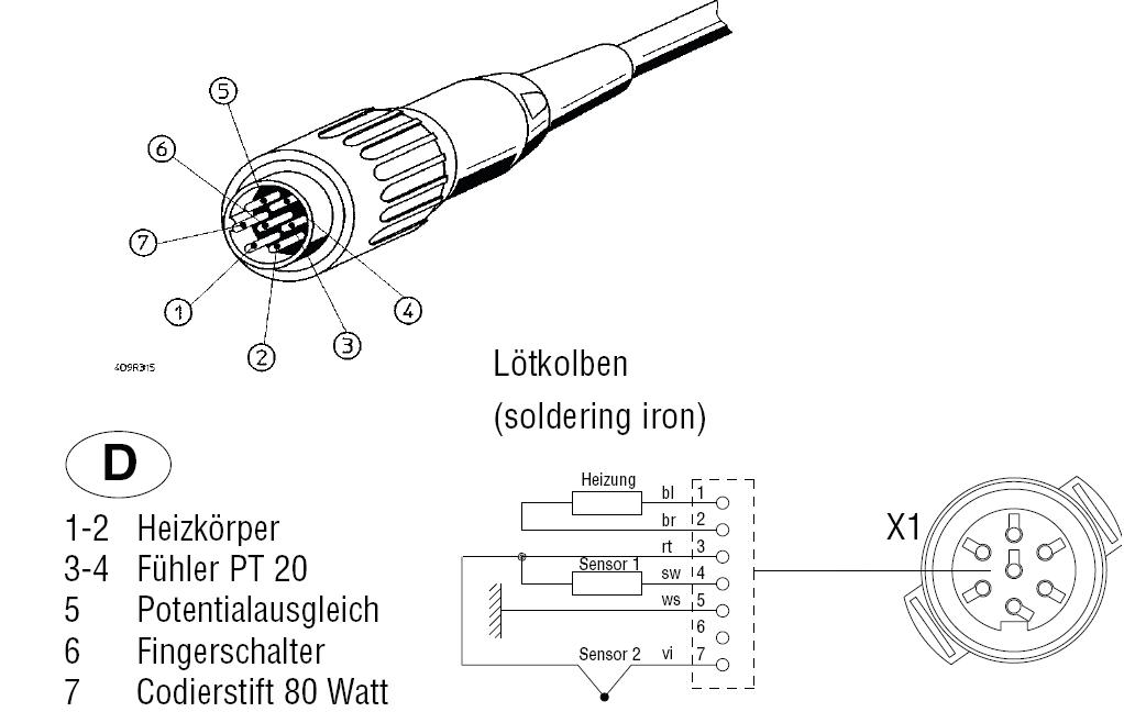 Welcher Steckverbinder ist das 7Pol Weller Station - Mikrocontroller.net