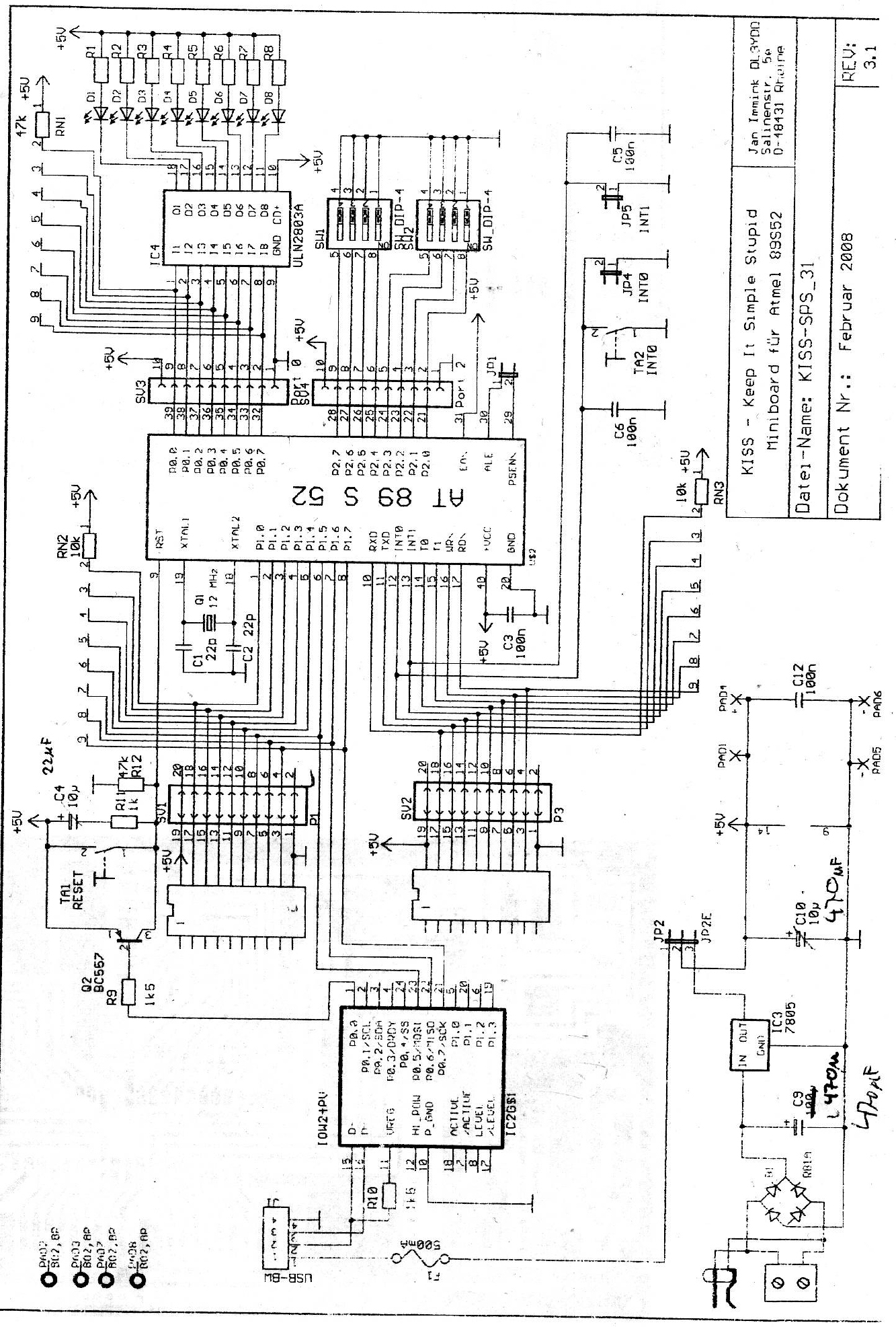 kiss 8051 usb at89s52 anf nge was sinnvolles damit zu. Black Bedroom Furniture Sets. Home Design Ideas