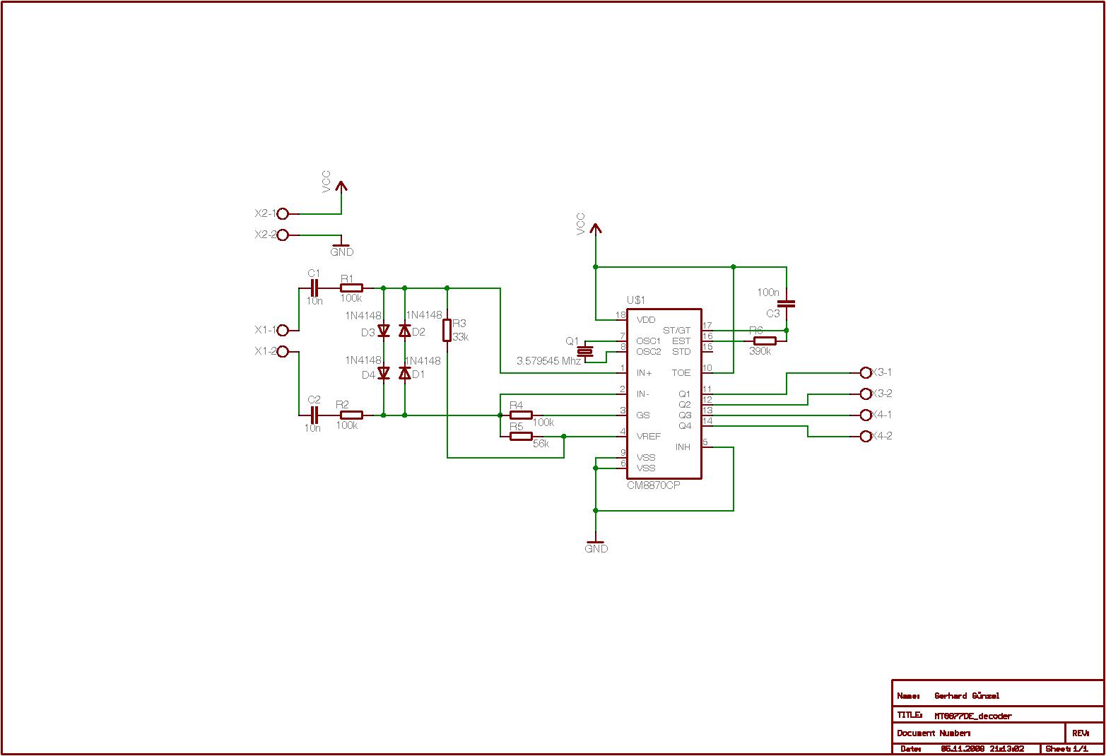Dtmf Mit Gsm Modem Auswerten Decoder Using Mt8870de Preview Image For
