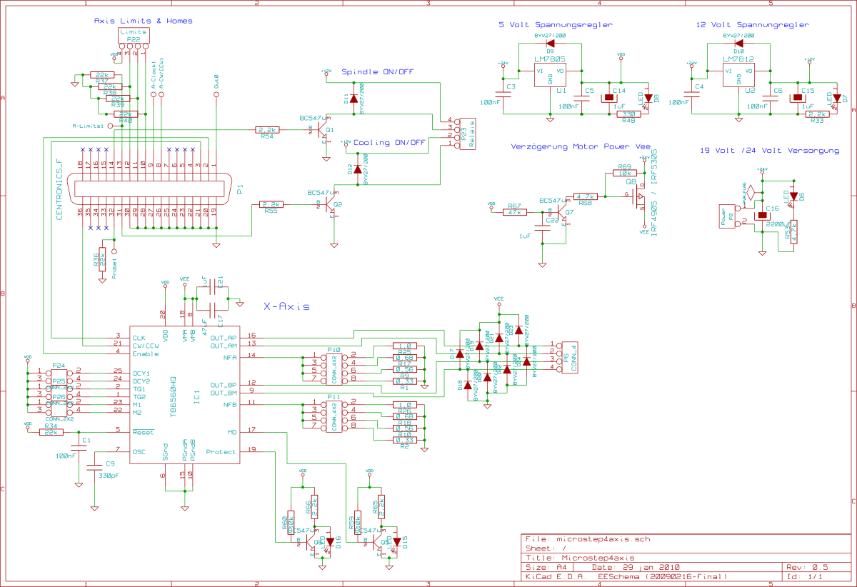 tb6560 4 axis schematic cnc router schematic
