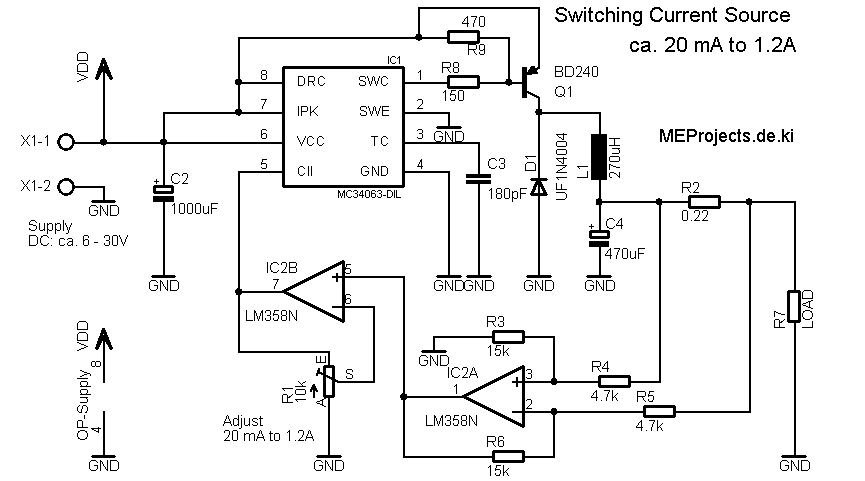 power led konstantstromquelle