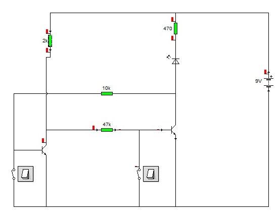 frage zu schaltung mit transistor. Black Bedroom Furniture Sets. Home Design Ideas