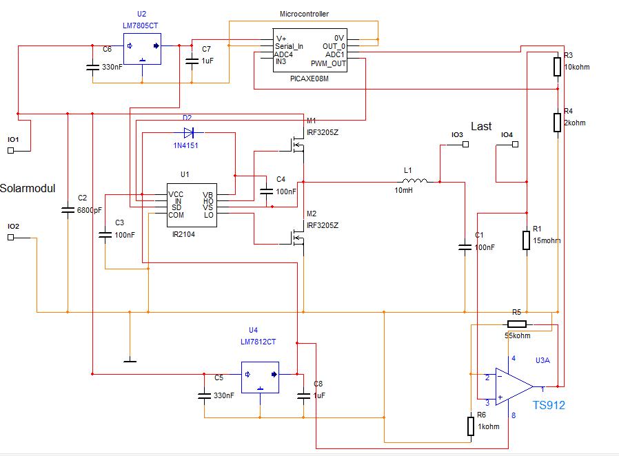 MPP Tracker, Dimensionierung von Spule und Kondensator ...