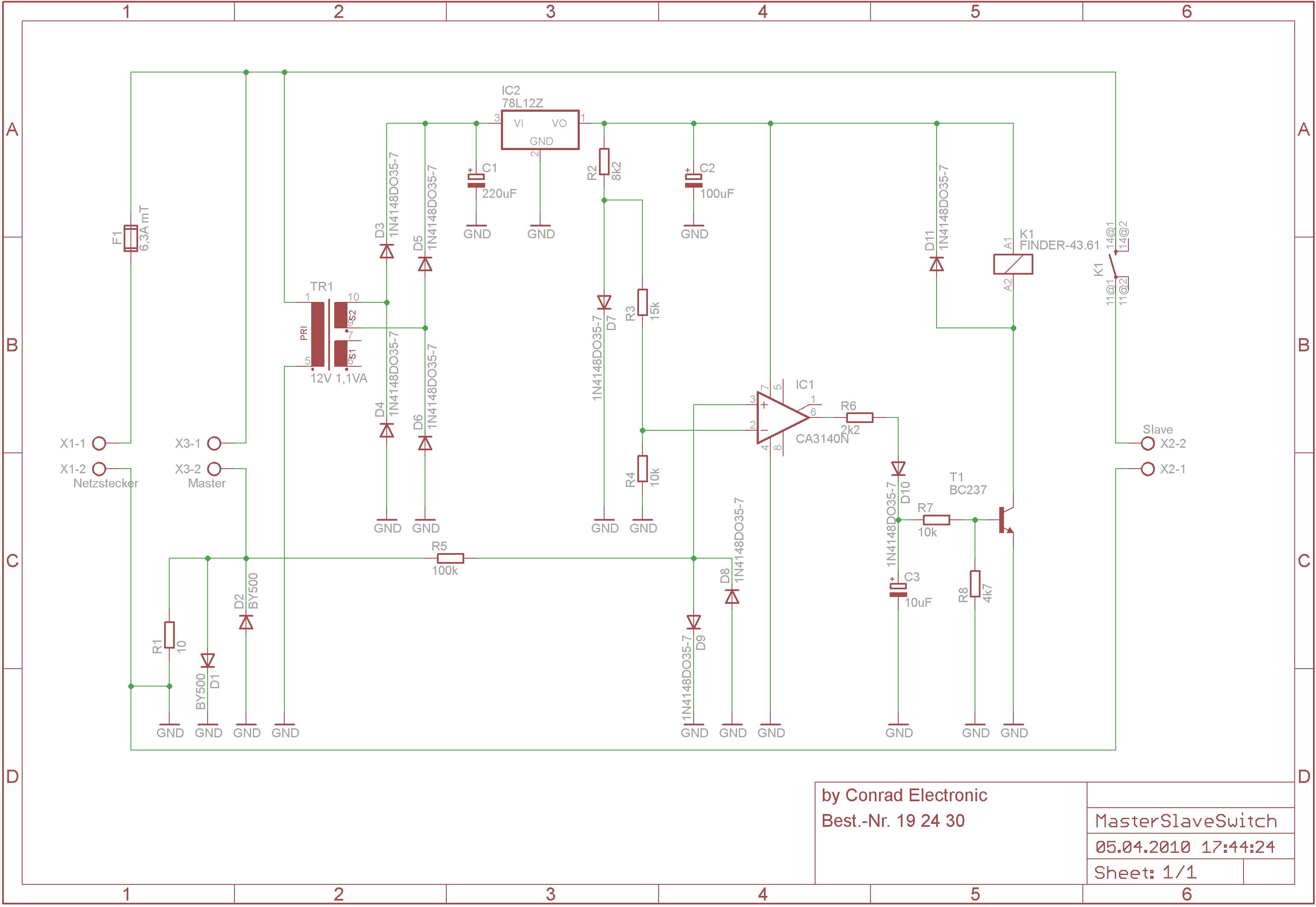 Conrad Master/Slave-Schalter - Mikrocontroller.net